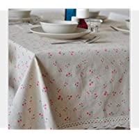 XINGXIAOYU Small Flower Garden Cotton Linen Tablecloth Home Universal Cover Towel,60 * 60Cm