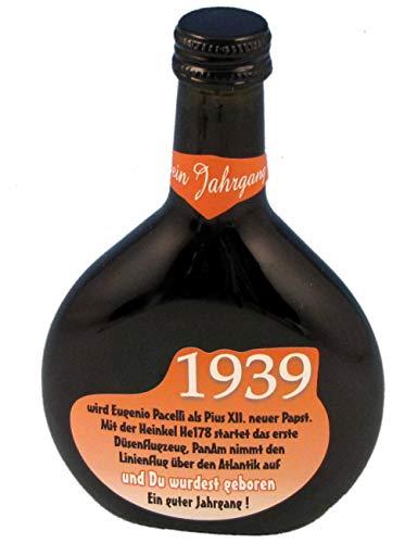 QUATSCHmanufaktur Bocksbeutel zum 80. Geburtstag (für Jahrgang 1939) Rotwein 0,25 l