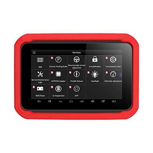Xtool X100 Pad - Programmatore Chiave Auto OBD2 Strumento diagnostico Lettore di Codici, immobilizzatore EEPROM, Reset Olio con Telecomando Bluetooth WiF