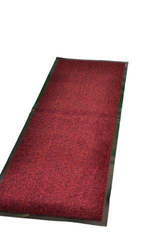 Felpudo de goma antideslizante de alta calidad, material PVC de 7mm, para uso interior o exterior, hecho en UE, color rojo, 60x 180cm