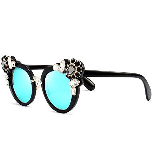 UNIVERSEQE Sonnenbrille leichter und robuster PC-Glasrahmen aus Metall mit Diamanten UV400 unisex, geeignet für Reiten beim Fahren im Freien mit dem Sportfischen