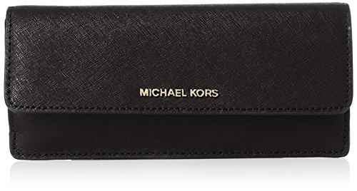 Michael Kors - Jet Set Flat Wallet, Carteras Mujer, Negro (Black), 2x9x11 cm (W x H L) Michael Kors