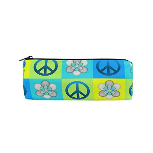 Malplena Peace-Zeichen-Muster, runder Stiftehalter, Make-up-Tasche - Peace-zeichen-geldbörse
