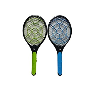 Cflagrant® Electric Anti Mosquitoes Racket, for Flies, Wasps and all flying insects Super Effective product Grill Effect Odour - Safe for Humans and Pets