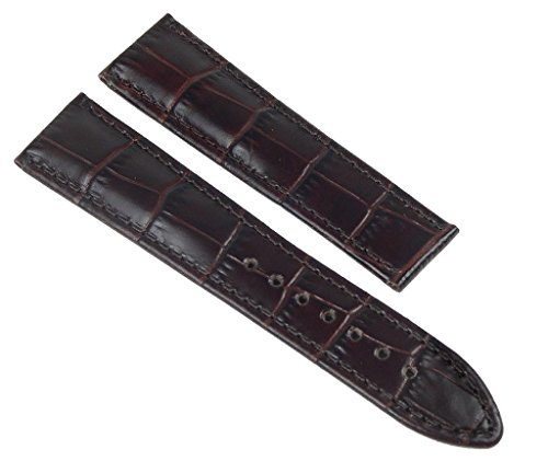 Maurice Lacroix Pontos Ersatzband Uhrarmband Leder Dunkelbraun 21mm 20125