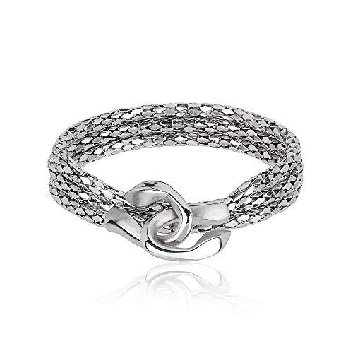 BREIL bracciale multigiro da donna in acciaio lucido con elemento centrale in acciaio lucido TJ2268