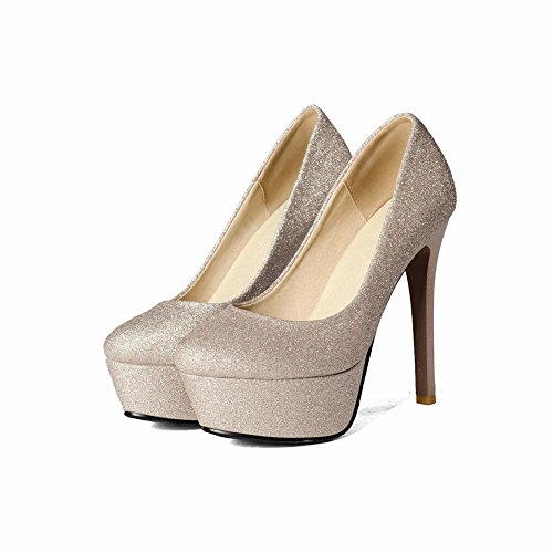 Misssasa Femme High-hells Chaussures De Charme Or
