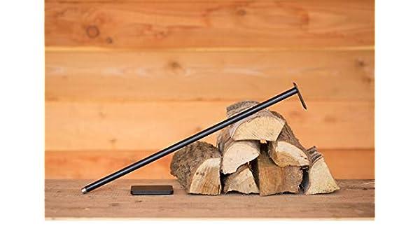 Blasrohr Kamin Feuer anfachen Pusterohr Luft pusten Pizzaofen Blasebalg antik