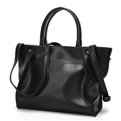 YiLianDa PU Leder Handtasche Ledertasche Umhängetasche Leder Überschlagtasche als Bild(2)