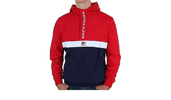 55e30bd6558a Fila Vintage 1911 Qtr Zip Jacket Red Navy White S  Amazon.co.uk  Clothing