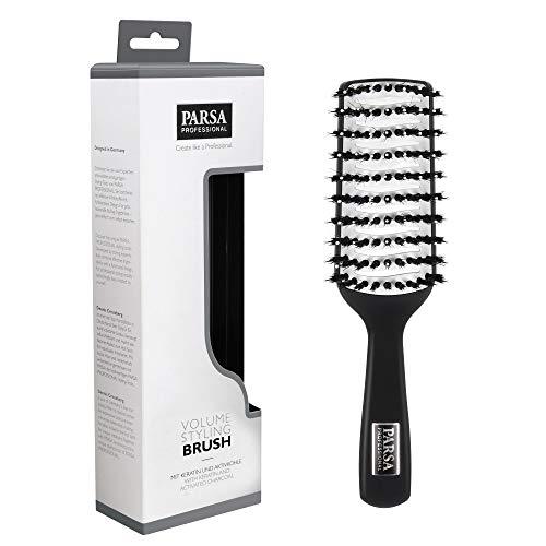 PARSA Volume Styling Brush 400-2 - Haarbürste für maximales Volumen, Keramik Bürste ideal zum föhnen, antistatische Stylingbürste aus Naturborsten mit Keratin und Aktivkohle