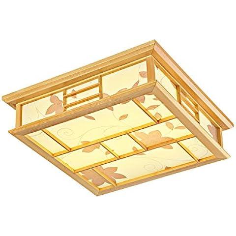 LYXG Il tatami camera lampada e lampada LED giapponese di luce a soffitto camera da letto studio lampada in legno luci (450mm*450mm*120mm), vellum non oscuramento di polarità