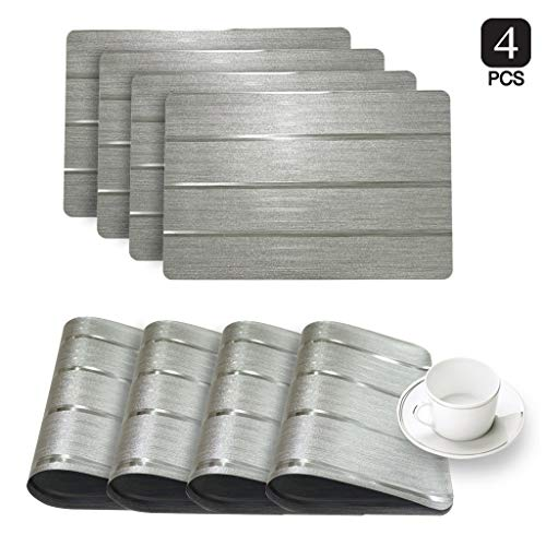 Dainty Home Park Ave Metallic Glimmer 4er Set Silber (Dainty Home)