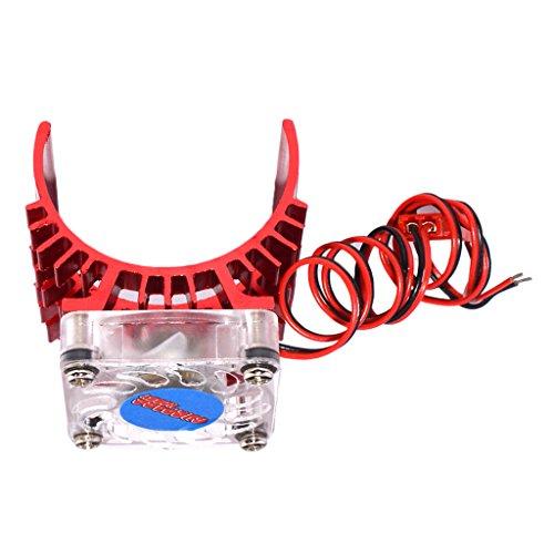 MagiDeal 540 550 Elektro Motor Wärmeschutz Abdeckung Kühlkörper mit Lüfter - Rot