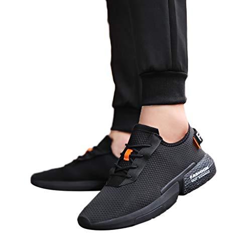 Subfamily Sneakers Stampate da Uomo Scarpe Casual Traspiranti a Rete Scarpe da Corsa alla Moda Tinta Unita Fondo a Nido d'Ape Alpinismo Palestra all'aperto la Scalata Estate
