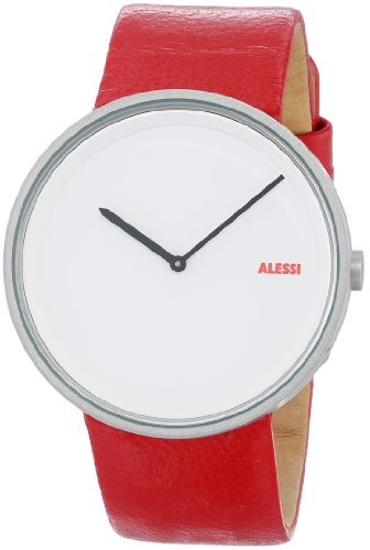 Alessi - AL13002 - Montre Homme - Automatique - Analogique - Bracelet Cuir Rouge