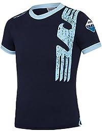 Macron Camiseta Azul Marino/cel Linea Fan en algodón niño SS Lazio ...