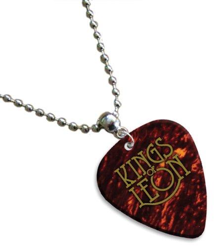Kings Of Leon Hot Foil chitarra pick collana plettro (Tortoise Shell)