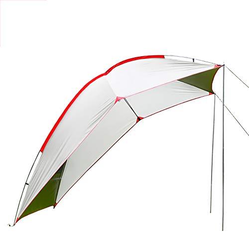 HJJH Markise Sun Shelter, tragbare Wasserdichte robuste Plane Baldachin Camper Trailer Zelt Dach für Strand, SUV, Camping, Event,White