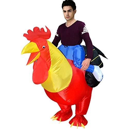 Rex T Schwanz Kostüm - LTSWEET Aufblasbares Schwanz Kostüm Halloween Fasching Karneval Fancy Dress Cosplay Party Outfit Festival Neuheit Spielzeug Geeignet für Erwachsene Jugend