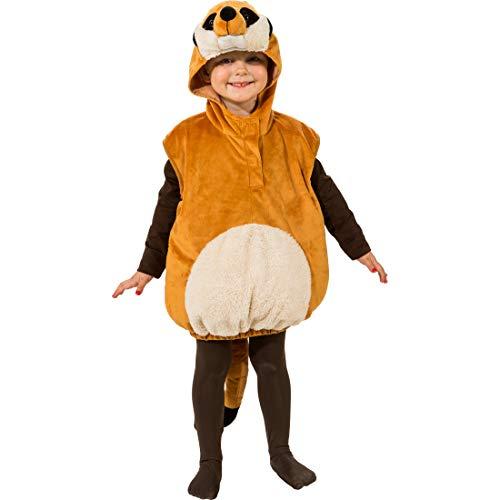 Und Timon Kostüm Pumbaa - NET TOYS Süßes Kostüm-Set für Jungen & Mädchen Erdmännchen | Braun in Größe 104, 3 - 4 Jahre | Hinreißende Kinder-Verkleidung Tier | Passend für Kinder-Karneval & Fastnacht