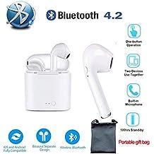 ASDMY Auriculares Bluetooth Auriculares Inalámbrico Auriculares Estéreo Cancelación de Ruido para iPhone Samsung Huawei Xiaomi Teléfonos