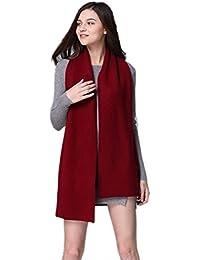 Prettystern - schwergewicht extra Volumen zweilagiger warm kuschelig Kaschmir Wolle einfarbiger Schal