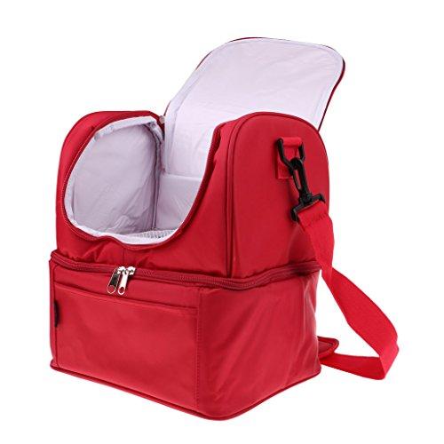 Unbekannt Sharplace Camping Eisbeutel Outdoor Lebensmittel Kühltasche Reisetasche Picknick Schultertasche, 20.5x15.5x24cm - Rot, 20L
