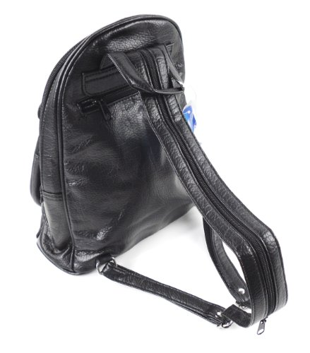 Phoenix Collection schwarze City Rucksäcke Lederoptik im trendigem Design Modell  3