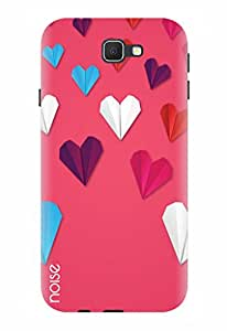 Noise Designer Printed Case / Cover for Samsung Galaxy J5 Prime / Patterns & Ethnic / Pink Paper hearts Design