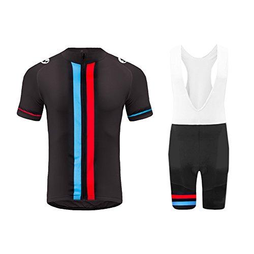 Uglyfrog Tuta Ciclismo Uomo Maniche Corte Maglie Ciclismo+Salopette Ciclismo Completo Ciclismo Squadra Professionale per MTB XTNX01