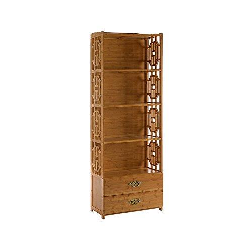Bibliothèque Sexy en Bois Massif à 5 étagères de Salon en Bambou (Taille : 70 * 29 * 163cm)