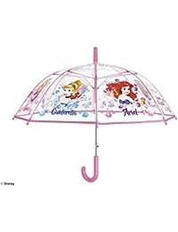 PERLETTI 50424 - Figura Decorativa para niña (45 y 8 cm), diseño de cúpula de Auto, Transparente con Paraguas…