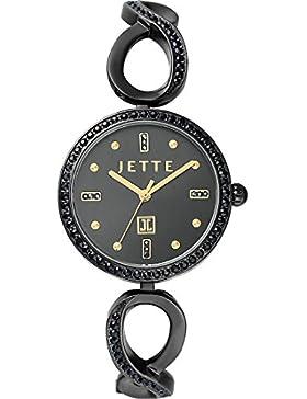 JETTE Time Damen-Armbanduhr Analog Quarz One Size, schwarz, schwarz