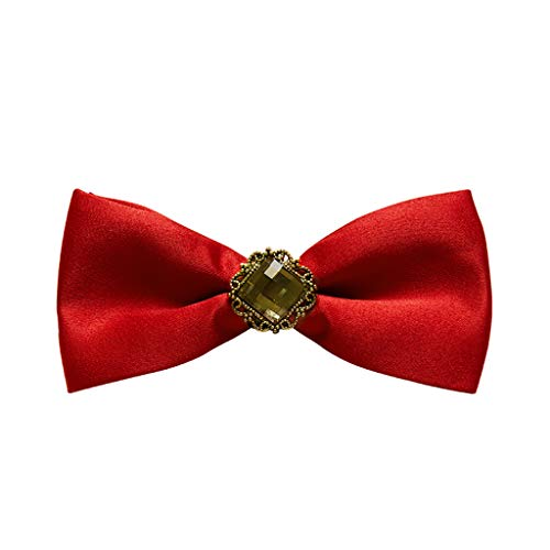 MHKJ Kinder Boy Silk Jacquard Fliege Kragen Anzug Farbe Print Bow Dress Zubehör (Farbe : 6) Bow Print Silk Dress