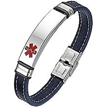 c908c33ff97e Flongo Pulsera de identificación médica Cruz Roja