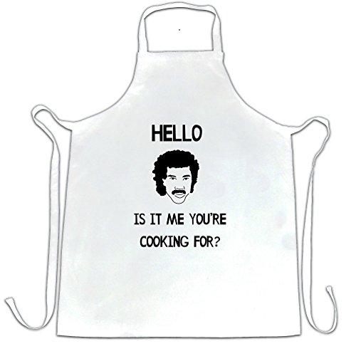 Hello Is It Me you 're da cucina per grembiule Lionel Ritchie Music Master Chef grembiuli vari colori Charcoal