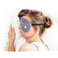 Kuschelige High-End-Schlafmaske aus 100% Bio-Baumwolle - Größe M/L - Anthrazitgrau - Lichtdicht und augenfreundlich... preisvergleich bei billige-tabletten.eu