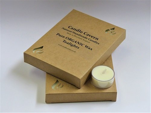 Certified ORGANIC Wax Tealights - 2 boxes of 12