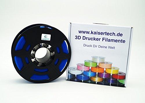 Filamento para impresora 3D de Kaisertech, 1 kg de PLA/ABS (1,75 mm/3 mm), de calidad superior y colores diferentes para MakerBot, RepRap, MakerGear, Ultimaker y más, PLA 1.75mm, azul, 1