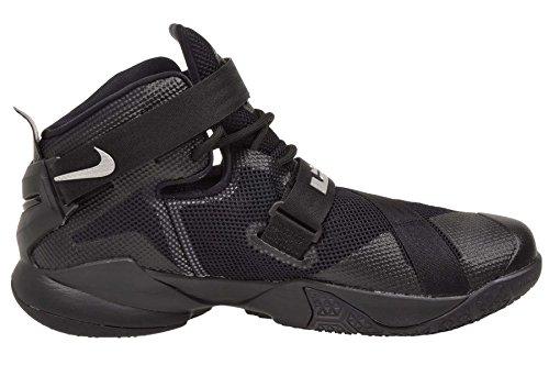 Nike Performance Zoom Lebron Soldier IX Basketballschuh Black/Metallic Silver