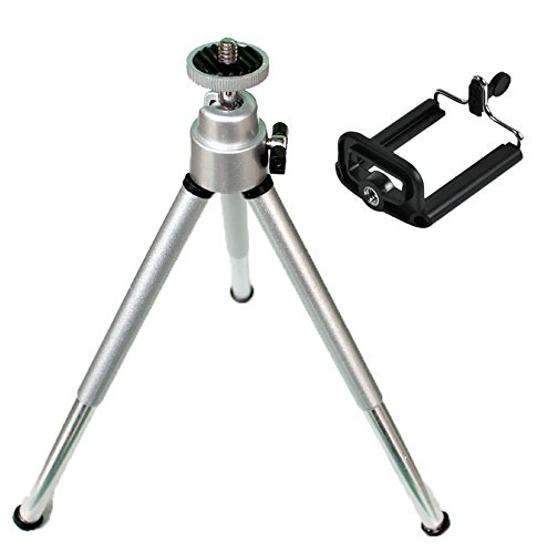mStick Silver Mini Tripod Aluminum Metal Lightweight Tripod Stand For Point & Shoot Camera ? Smartphones Etc.  available at amazon for Rs.299