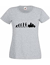 Evolution of a Heavyweight Motorbike Ladies Heather T-Shirt with Black Print