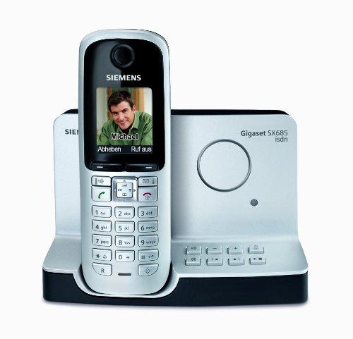 Gigaset SX685 ISDN Schnurlostelefon (beleuchtetes grafisches Display, Anrufbeantworter, Bluetooth) titanium