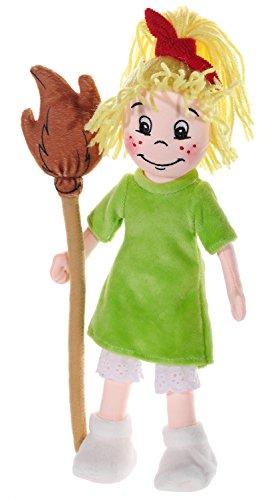 72 - Puppe, mittel, 30cm, haut/grün (Hexen-socken)