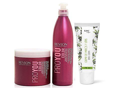 Revlon ProYou Color shampoo 350 ml + Revlon ProYou Color masque 500 ml + Alkimist Professional Crème pour les mains à l'huile d'olive vierge 100 ml