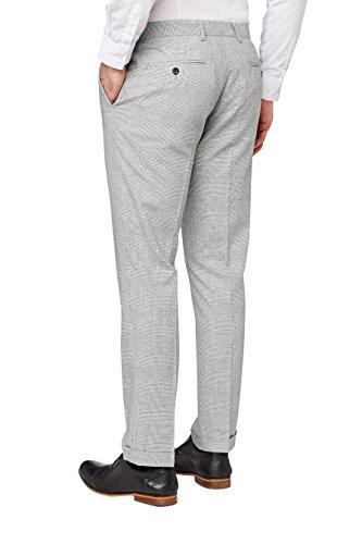 next Pantalon de costume skinny en lin à carreaux Super Skinny Homme Gris