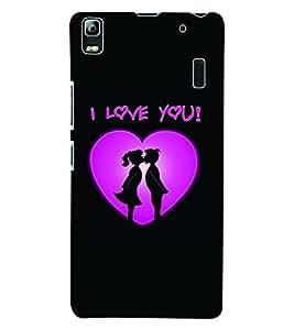 Fuson 3D Printed Valentine I Love You Designer Back Case Cover for Lenovo K3 Note - D591