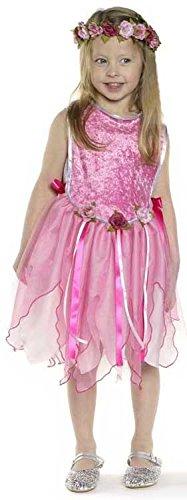 Trullala Tunikakleid Fee, Prinzessinnen-Kleid, Faschingskostüm, Größe: M in pink (4-6 Jahre)