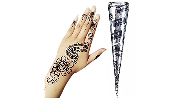 Buy Generic Black Herbal Henna Cones Temporary Tattoo Kit Body Art Mehandi Ink Hina Temporary Henna Designs Instant Tattoo Paste Adhesive Stencils Online At Low Prices In India Amazon In